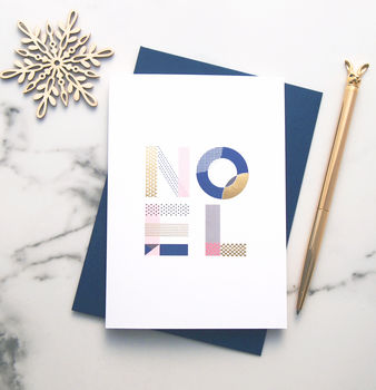 Luxury Noel Gold Foil Christmas Card