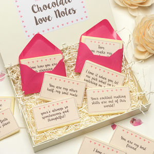Personalised Printed Chocolate Love Notes