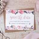 Rose Gold Floral Wedding Save The Date