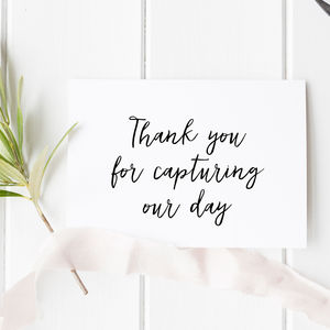 Wedding Photographer Thank You Card - weddings sale