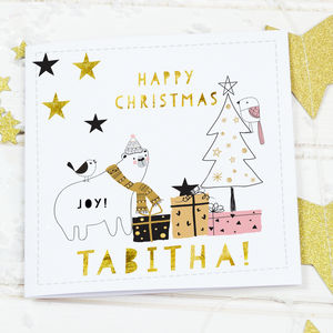 Scandi Christmas Card 'Bear' - cards & wrap