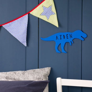 Personalised T Rex Dinosaur Acrylic Door Sign For Kids
