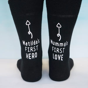 Personalised My Love Ankle Print Socks - valentine's gifts for him