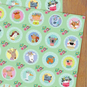 Animal Selfie Gift Wrap