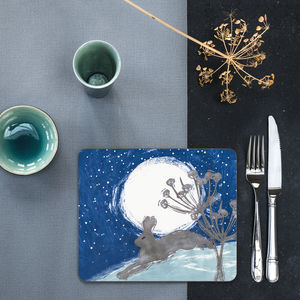 Midnight Hare Placemats - kitchen