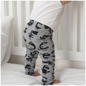 Unisex Grey Monster Child And Baby Leggings - trousers & leggings
