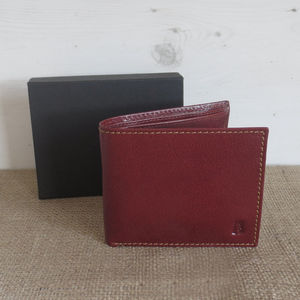 Men's Handcrafted Leather Wallet 40% Off Gift Boxed