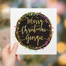 Personalised Rainbow Stars Christmas Card