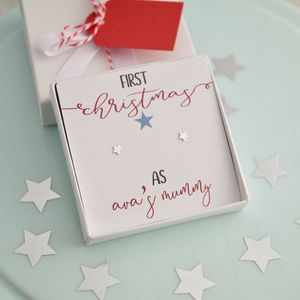 First Christmas Earring Gift