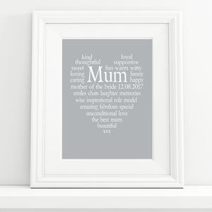 Mother Of The Bride/Groom Personalised Print