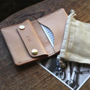 Leather Folding Wallet With Coin Pouch