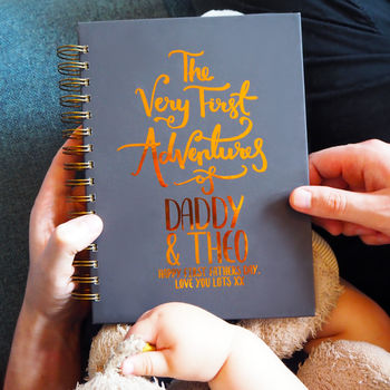First Father's Day Baby Adventures Memory Book