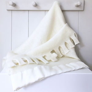 Pure Cashmere Christening Blanket - blankets, comforters & throws
