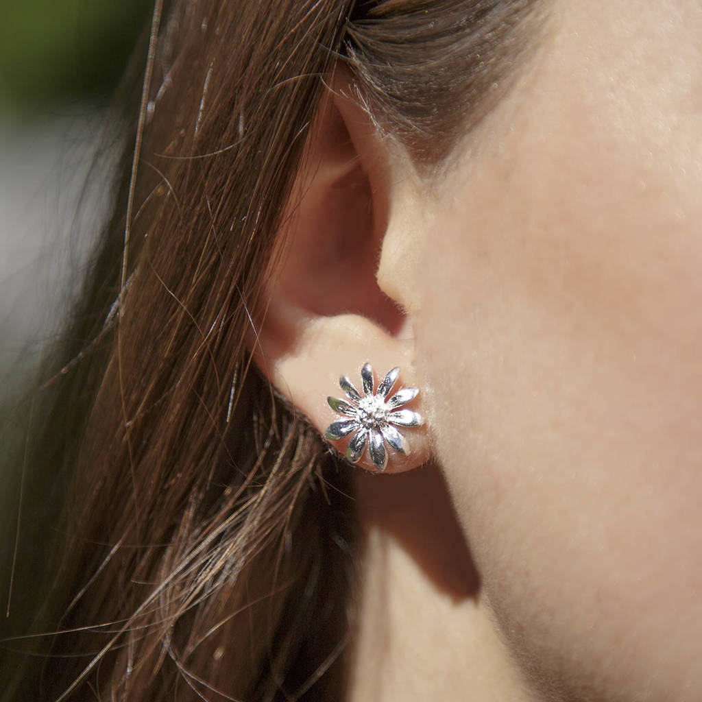 4596670db silver daisy stud earrings by martha jackson sterling silver ...