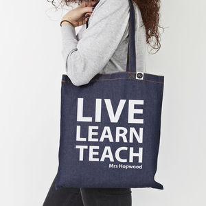 Personalised Teacher's Tote Bags - shopper bags