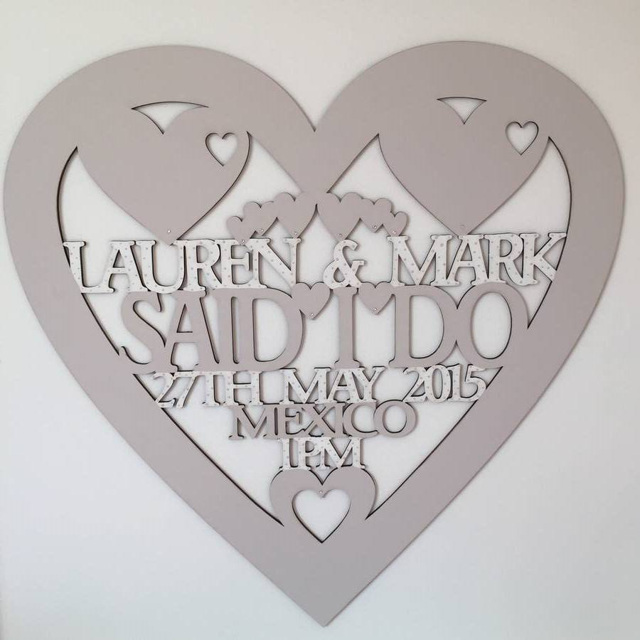 Personalised Wedding Gift Heart : ... > TINAS PRETTY PIECES > PERSONALISED WEDDING HEART KEEPSAKE GIFT