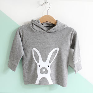 Rabbit, Personalised Initails Hoody - jumpers & cardigans
