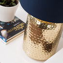 Gold Hammered Pot Table Lamp Base