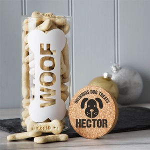 Personalised Dog Treats Jar - dogs