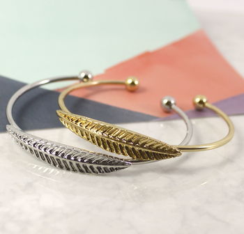 Feather Cuff Stacking Bangle