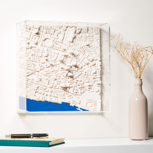 Three D London Map Wall Art - mixed media & collage