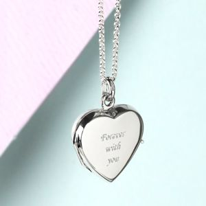Solid Silver Heart Locket - personalised