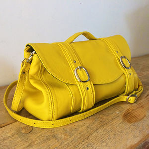 Handmade Yellow Leather 'Peston' Bag - bags & purses