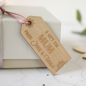Personalised Bronze Gift Tag - diy stationery