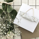 Personalised Wedding Banner Keepsake Card