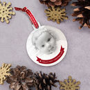 Baby's First Christmas Photo Bauble