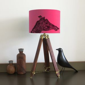 Giraffe Lampshade With Fifteen Fabric Colour Options - children's lighting