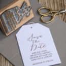 Save The Date Calligraphy Stamp