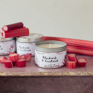 Daisy And Dot Rhubarb And Custard Tin Candle