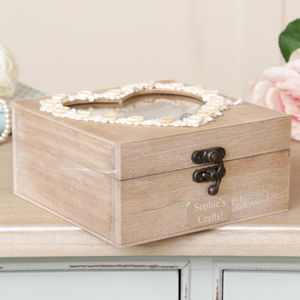 Personalised Heart Sewing Box - sewing & knitting