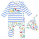Unisex Blue Little London Three Piece Baby Set