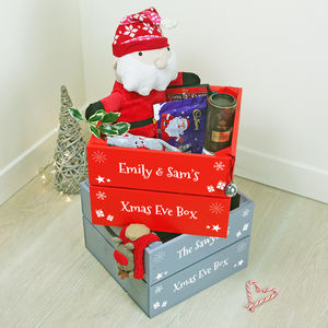 Personalised Christmas Eve Crate - office & study