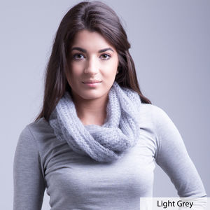 Soft Mohair Infinity Scarf