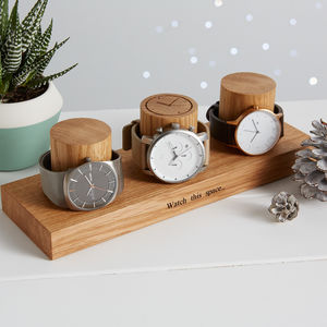 Oak Watch Stand For Three, Four Or Five Watches - the ultimate lust list