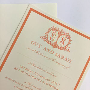 Monogrammed Traditional Wedding Invitations