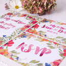 Watercolour Flowers Wedding Invite