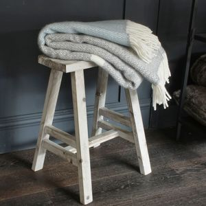 Duck Egg Blue And Cream Throw - cosy home updates