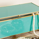 Art Deco Turquoise Jewellery Box