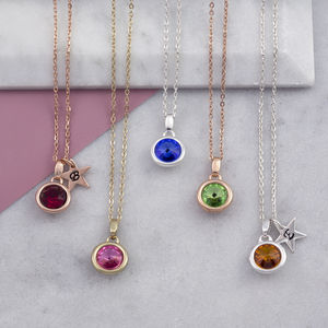 Birthstone Necklace Christmas Gift