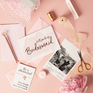 Will You Be My Bridesmaid Personalised Gift Set - bridesmaid cards