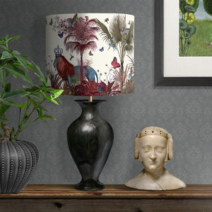 Tropical Lions Lampshade, Red