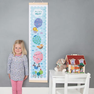 Personalised Balloons Height Chart - children's room accessories