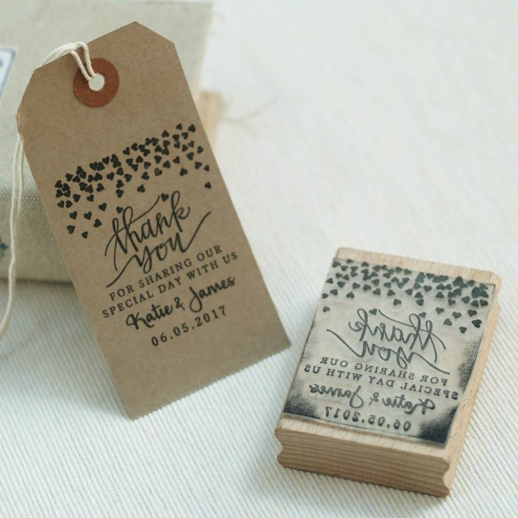 hearts design wedding favour stamp by pretty rubber stamps ...