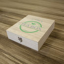 Personalised Name Wooden Tea Box Nine Compartment