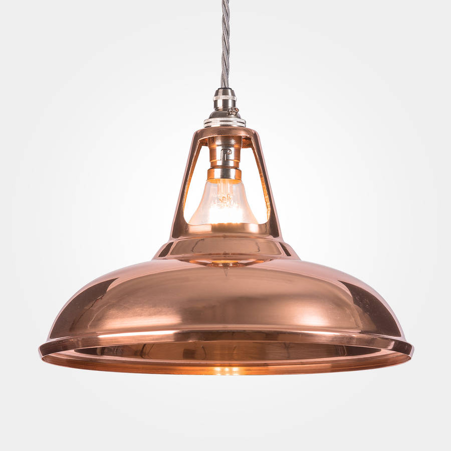 Coolicon industrial copper pendant light by artifact lighting polished copper aloadofball