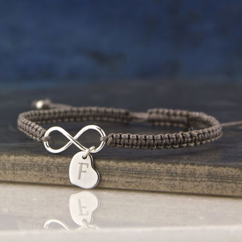 Silver Eternity Knot Friendship Bracelet